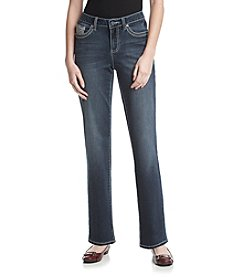 Earl Jean® Heavy Stitch Bling Straight Jeans