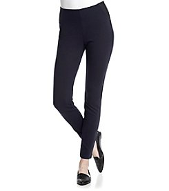 One 5 One® Side Elastic Pull On Ponte Pants