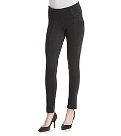 One 5 One® Pull On Ponte Pants With Piping