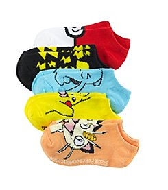 Pokémon® Boys' 5-Pack Pokemon No-Show Socks