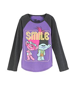 DreamWorks Trolls™ Girls' 7-16 Smile Raglan Tee