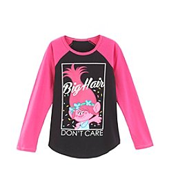 DreamWorks Trolls™ Girls' 7-16 Big Hair Don't Care Raglan Tee
