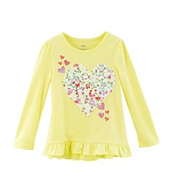 Mix & Match Girls' 2T-4T Heart Ruffle Hem Tee