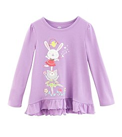 Mix & Match Girls' 2T-4T Friends Ruffle Hem Tee