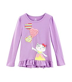 Mix & Match Girls' 4-6X Balloons Ruffle Hem Tee