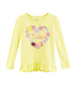 Mix & Match Girls' 4-6X Cute Ruffle Hem Tee