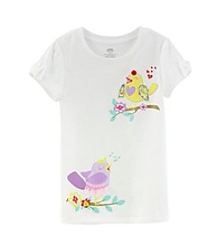 Mix & Match Girls' 4-6X Bow Sleeve Sweet Bird Tee