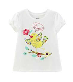 Mix & Match Girls' 2T-4T Bow Sleeve Bird Songs Tee