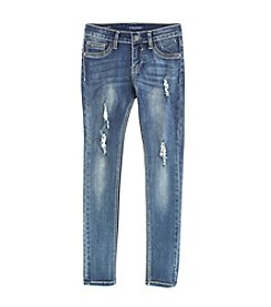 Vigoss® Girls' 7-16 Distressed Convertible Skinny Jeans