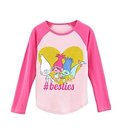 DreamWorks Trolls™ Girls' 2T-16 #Besties Raglan Tee