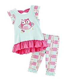 Nannette® Girls' 2T-6X 2-Piece Bird Tunic And Leggings Set