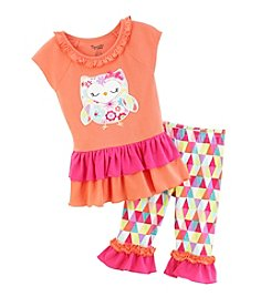 Nannette® Girls' 2T-6X 2-Piece Owl Tunic And Leggings Set