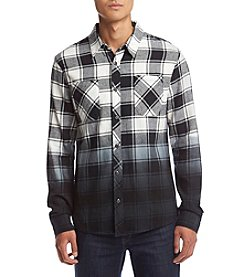 Lazer™ Men's Long Sleeve Dip Dye Flannel Shirt