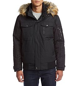 Sean John Men's Faux Fur Trim Parka