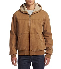 G.H. Bass & Co. Men's Knit Hooded Bomber Jacket