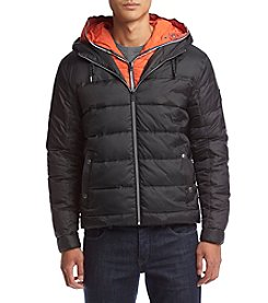Cole Haan® Men's Mixed Media Faux Down Jacket