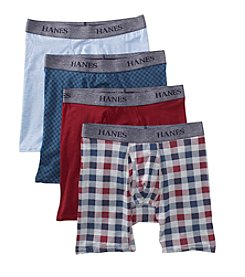 Hanes® Men's 4-Pack Boxer Briefs