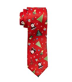 HO HO HO Tossed Santa Tie