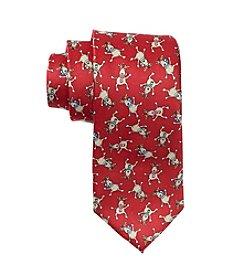 HO HO HO Tossed Reindeer Tie