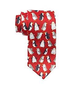HO HO HO Printed Penguin Tie
