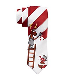 HO HO HO Painting Stripes Tie