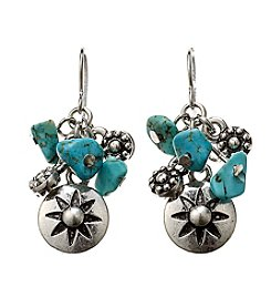 Ruff Hewn Turquoise Cluster Drop Earrings