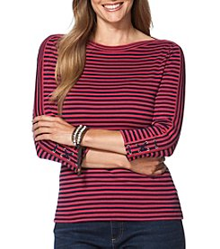 Chaps® Plus Size Striped Tee