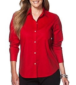 Chaps® Plus Size Non-Iron Cotton Broadcloth Shirt