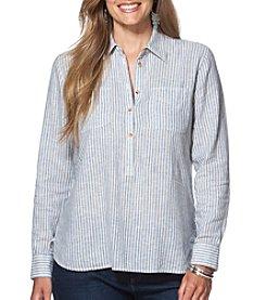 Chaps® Plus Size Striped Shirt