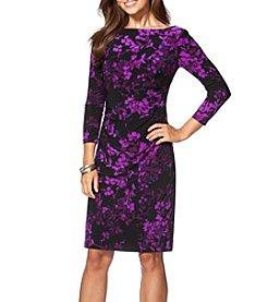 Chaps® Pattern Sheath Dress