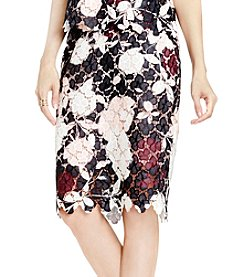 Vince Camuto® Lace Woven Skirt