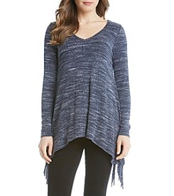 Karen Kane® Sweater Knit Fringe Top