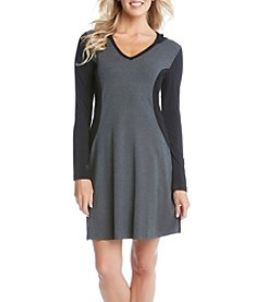Karen Kane® Panel Hoodie Dress