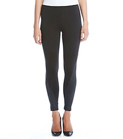 Karen Kane® Faux Leather Panel Leggings