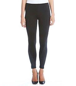 Karen Kane® Faux Leather Panel Leggings