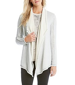 Karen Kane® Raw Edge Drape Jacket