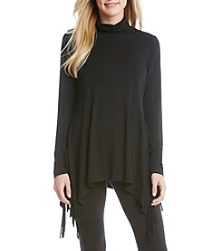 Karen Kane® Turtleneck Fringe Top