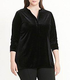 Lauren Ralph Lauren® Plus Size Velvet Henley