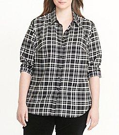 Lauren Ralph Lauren® Plus Size Plaid Cotton Twill Shirt