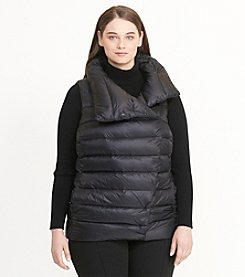 Lauren Ralph Lauren® Plus Size Funnel Neck Down Vest