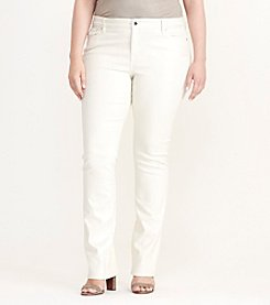 Lauren Ralph Lauren® Plus Size Coated Straight Jean