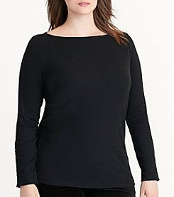 Lauren Ralph Lauren® Plus Size Jersey Boatneck Top