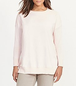 Lauren Ralph Lauren® Plus Size Twill-Front Silk-Blend Sweater