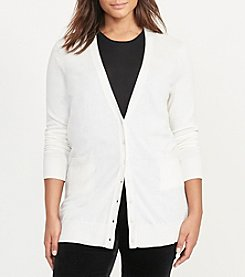 Lauren Ralph Lauren® Plus Size Stretch Cotton Cardigan