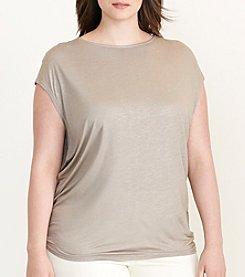 Lauren Ralph Lauren® Plus Size Metallic Jersey Tee