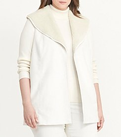 Lauren Ralph Lauren® Plus Size Shawl Collar Vest