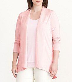 Lauren Ralph Lauren® Plus Size Open-Front Jersey Cardigan
