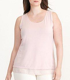 Lauren Ralph Lauren® Plus Size Sheer-Hem Jersey Tank