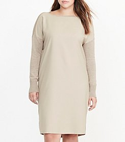 Lauren Ralph Lauren® Plus Size Twill-Front Sweater Dress