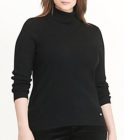 Lauren Ralph Lauren® Plus Size Ribbed Turtleneck Sweater